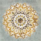 Mandala Delight II Yellow Grey