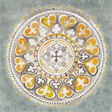 Mandala Delight III Yellow Grey