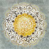 Mandala Delight IV Yellow Grey
