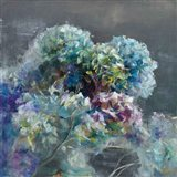 Abstract Hydrangea Dark