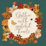 Fall Garden V Teal