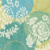 Floral Decal Turquoise II