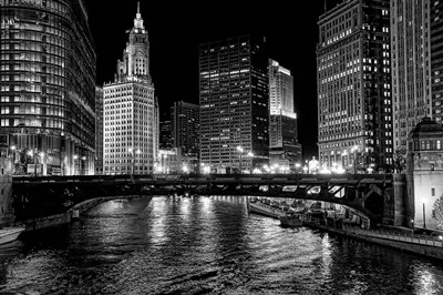 Chicago River Poster by Jeff Lewis for $43.75 CAD