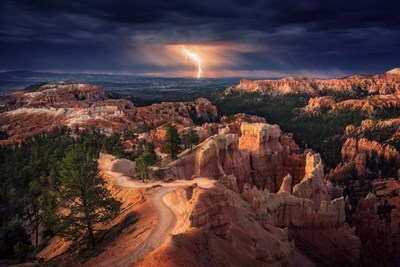 Lightning Over Bryce Canyon Poster by Stefan Mitterwallner for $43.75 CAD
