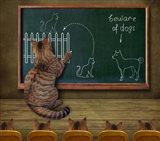 Cat Teacher And His Pupils