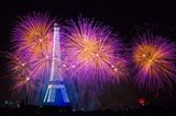Fireworks At The Eiffel Tower For The 14 July Celebration