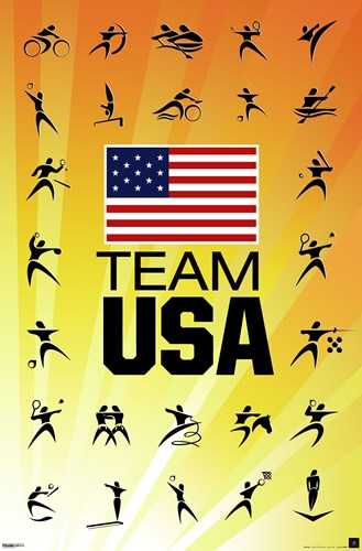 London 2012 Olympics - Team US yellow Poster by Unknown for $12.50 CAD