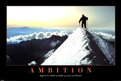 Ambition Poster by Unknown for $20.00 CAD
