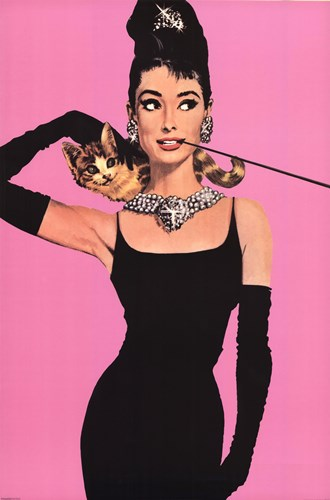 Audrey Hepburn - Pink Poster by Unknown for $13.75 CAD