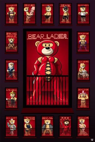 Bad Taste Bears - Red Light Poster by Unknown for $12.50 CAD
