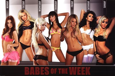 Babes Of The Week Poster by Unknown for $12.50 CAD