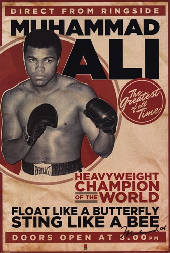 Muhammad Ali - Vintage Poster by Unknown for $17.50 CAD