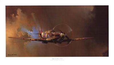 Spitfire Poster by Barrie Clark for $66.25 CAD
