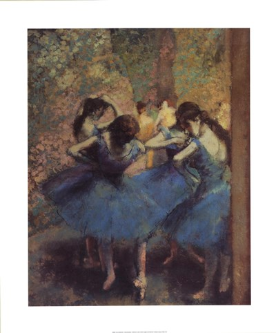 Blue Dancers Poster by Edgar Degas for $53.75 CAD