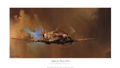 Spitfire Poster by Barrie Clark for $47.50 CAD