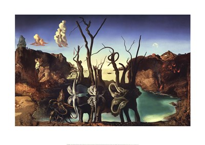 Swans Reflecting Elephants, 1937 Poster by Salvador Dali for $60.00 CAD
