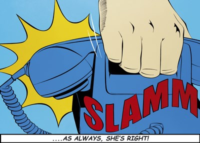 Slamm! Poster by Deborah Azzopardi for $60.00 CAD