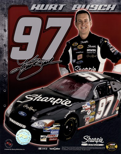 2006 Kurt Busch collage- car, number, driver and signature Poster by Unknown for $11.25 CAD