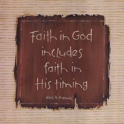 Faith In God Poster by Karen Tribett for $12.50 CAD