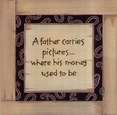 A Father Carries Poster by Karen Tribett for $15.00 CAD