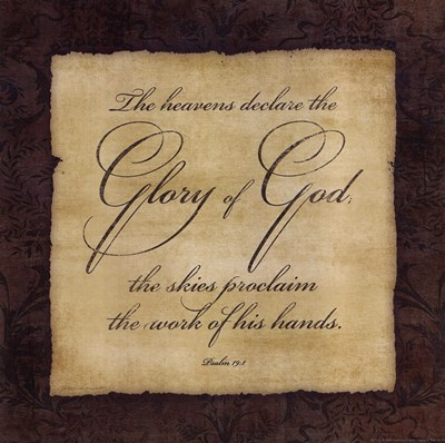 Glory To God Poster by Stephanie Marrott for $12.50 CAD