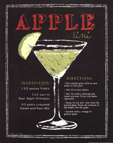 Appletini Poster by Stephanie Marrott for $16.25 CAD