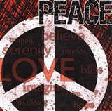 Peace - Red Black and White