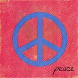 Peace - Blue and Pink