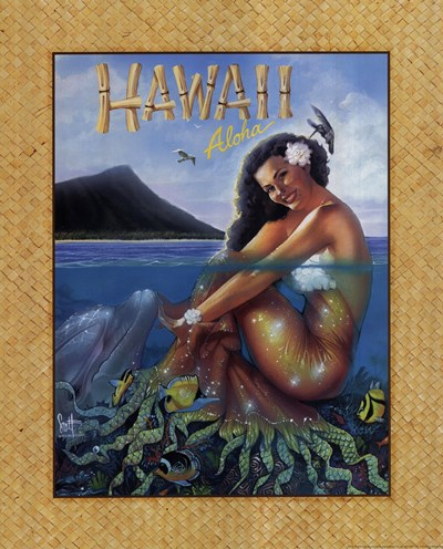 Aloha Hawaii Poster by Scott Westmoreland for $27.50 CAD