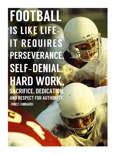 Football is Like Life Poster by Sports Mania for $63.75 CAD