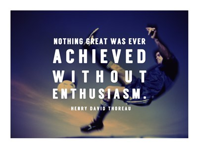 Enthusiasm Poster by Sports Mania for $31.25 CAD