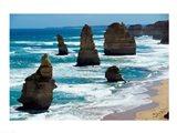 Rock formations on the coast, Twelve Apostles, Port Campbell National Park, Victoria, Australia