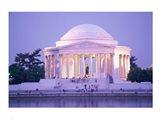 Jefferson Memorial at dusk, Washington, D.C., USA