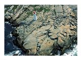 Aerial view of a lighthouse at the coast, Peggy's Cove, Nova Scotia, Canada - your walls, your style!