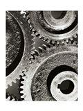 Close-up of interlocked gears
