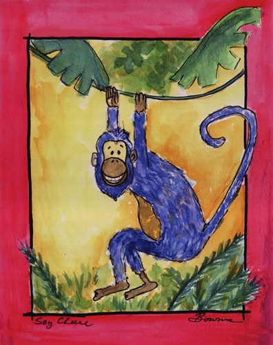 Cheeky Monkey Poster by Serena Bowman for $25.00 CAD
