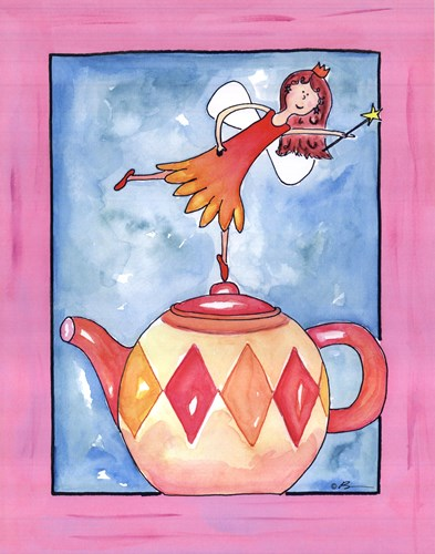 Harlequin Teapot Fairy Poster by Serena Bowman for $25.00 CAD