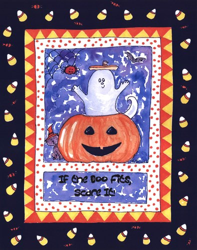 Halloween Ghost (Blue) Poster by Serena Bowman for $25.00 CAD