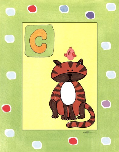 C is for Cat Poster by Serena Bowman for $25.00 CAD