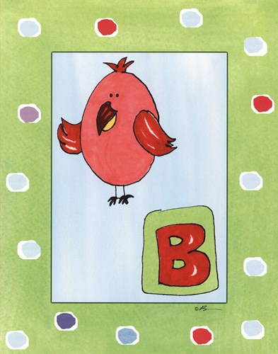 B is for Bird Poster by Serena Bowman for $25.00 CAD