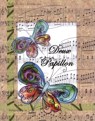 Deux Papillon Poster by Serena Bowman for $25.00 CAD