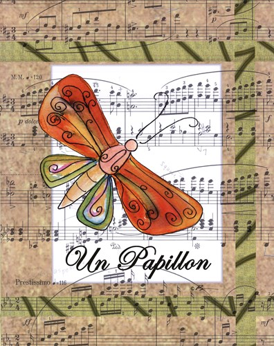 Un Papillon Poster by Serena Bowman for $25.00 CAD