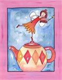 Harlequin Teapot Fairy