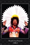 Jimi Hendrix Fan Portrait