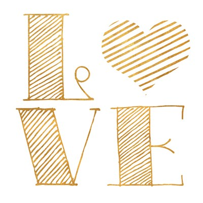 Love Heart Gold Poster by SD Graphics Studio for $12.50 CAD