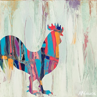 Bright Rhizome Rooster Poster by Ann Marie Coolick for $12.50 CAD