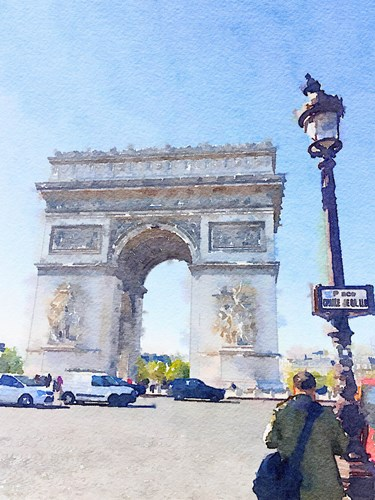 Watercolor Streets of Paris I Poster by Emily Navas for $17.50 CAD