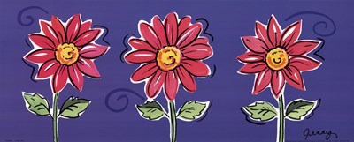 3 Pink Daisies Poster by Allison Jerry for $12.50 CAD