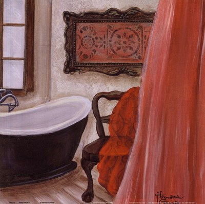 Antique Bath I Poster by Hakimipour - Ritter for $12.50 CAD
