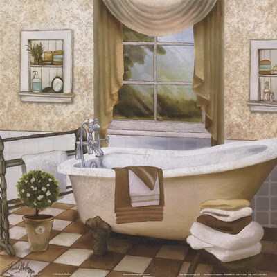 French Bath II Poster by Elizabeth Medley for $12.50 CAD